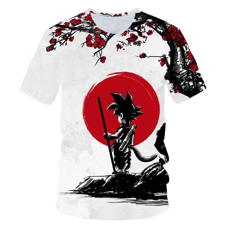 Dragon Ball Z T-shirts Men's Summer 3D Print Super Saiyan Son Goku Black Vegeta Battle Dragonball Casual T Shirt Tops Tee Kid