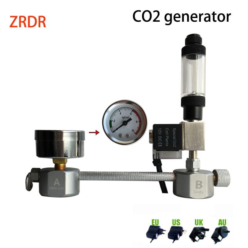 Aquarium CO2 Regulator System Kit co2 Diffuser Generator with Valve Bubble Atomizer Solenoid Fish Tank Carbon Dioxide For Plants