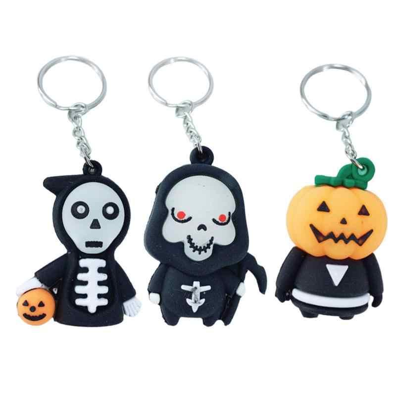 1pc bonito halloween abóbora chaveiro death god criativo estudante saco decoração corrente pingente casal personalidade carro chaveiro