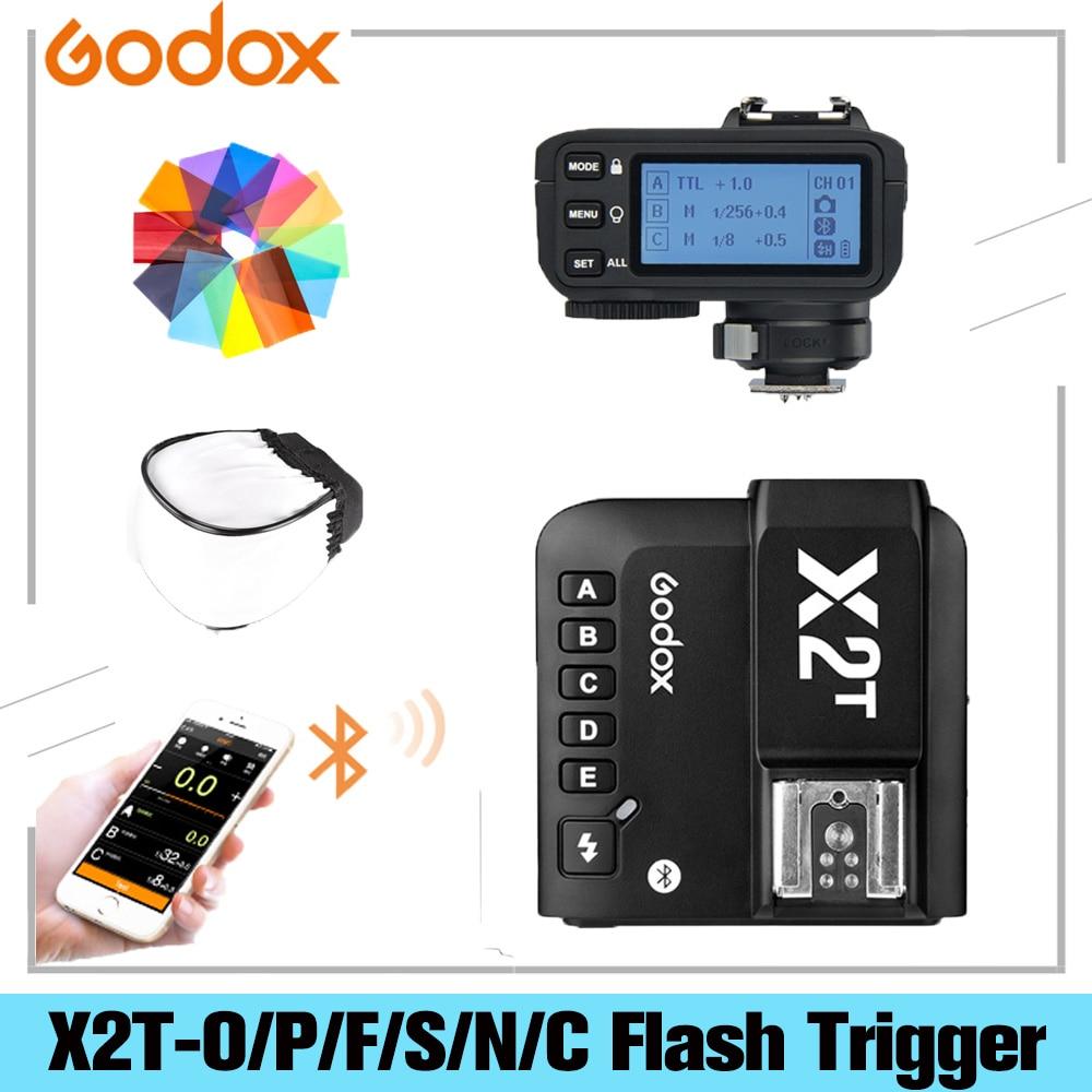 Godox X2T-C X2T-N X2T-S X2T-F X2T-O X2T-P TTL 1/8000s HSS Беспроводной трансмиттер триггер для вспышки для цифровой зеркальной камеры Canon Nikon Sony Fuji Olympus