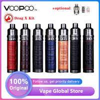 Оригинальный набор VOOPOO DRAG X Mod Pod с 4,5 мл Pod, набор электронной сигареты vs Vinci X с максимальным выходом 80 Вт, катушка 0,15 Ом/0,3 Ом, вейп-набор vs Vinci X