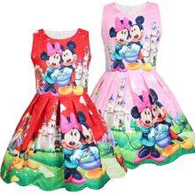 Disney Minnie Meisjes Zomer Kleine Kinderen Vest Jurk 2021 Katoen Kinderkleding Meisje Baby Dress Mouwloze Mickey Jurken