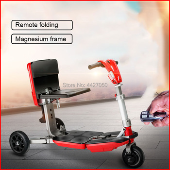 Luggage  manual folding three-wheeled electric mobility scooter  wheelchair  for disabled