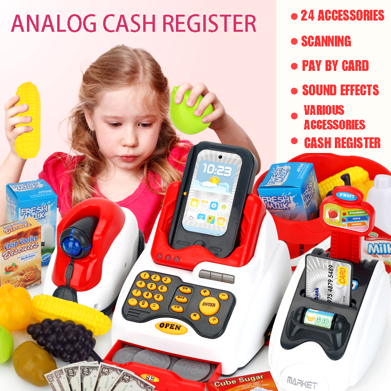 New Simulation Masters Classic Cash Register Toys Children's Role Play Supermarket Cash Register Gifts For Children