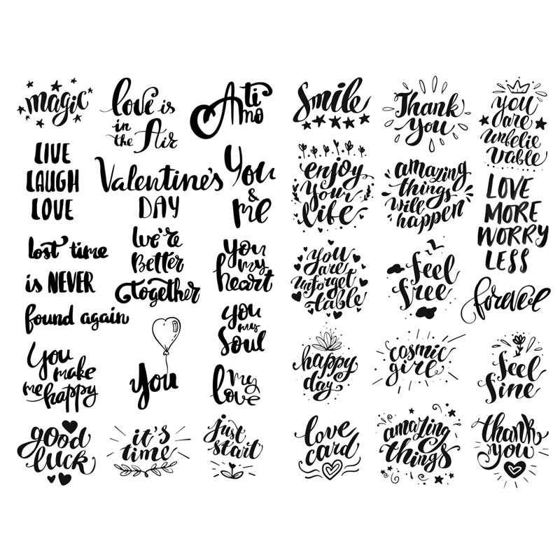Thank you Waterproof Vinyl Stickers Love letter Macbook Decal Bullet Journal
