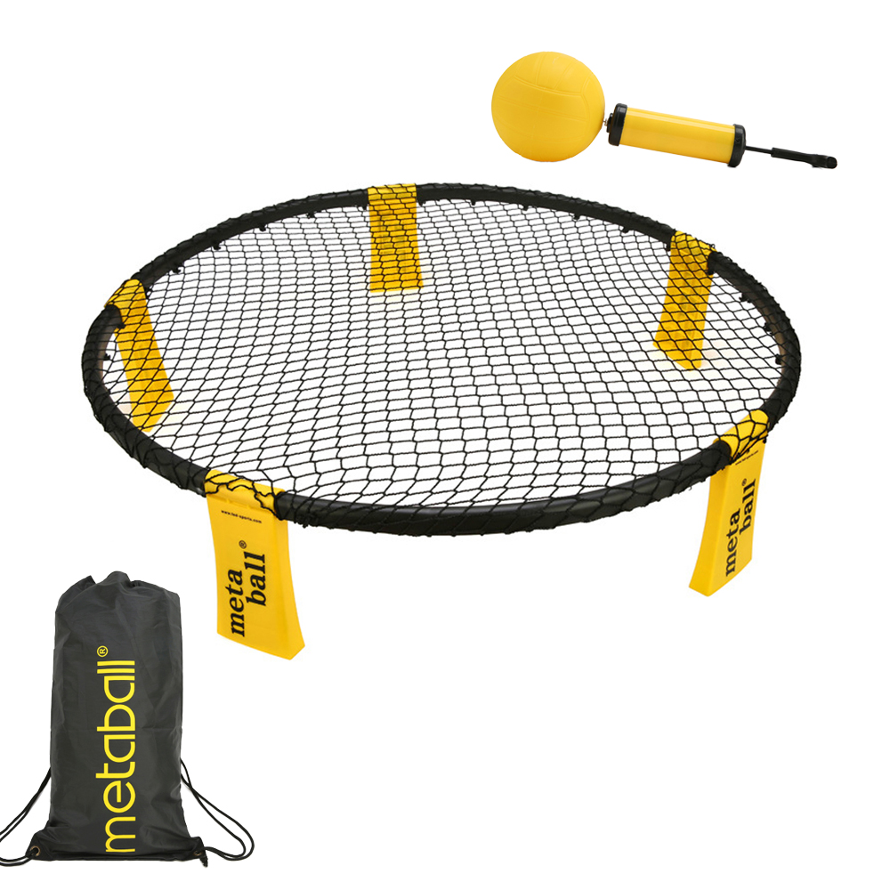 Mini Beach Volleyball Spike Ball Game Set Outdoor Team Sports Spikeball Lawn Fitness Equipment With 3 Balls Volleyball Net