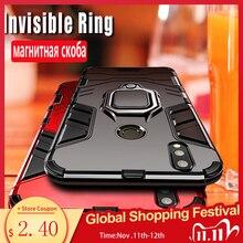 Armatura Caso Per La Nota Redmi 8 Pro 8 7 4X 5 6 Pro Per Il Caso di Xiaomi Mi Max 3 9 lite 8 9T 9SE A1 A2 Della Miscela 2 2S Redmi 6 Pro