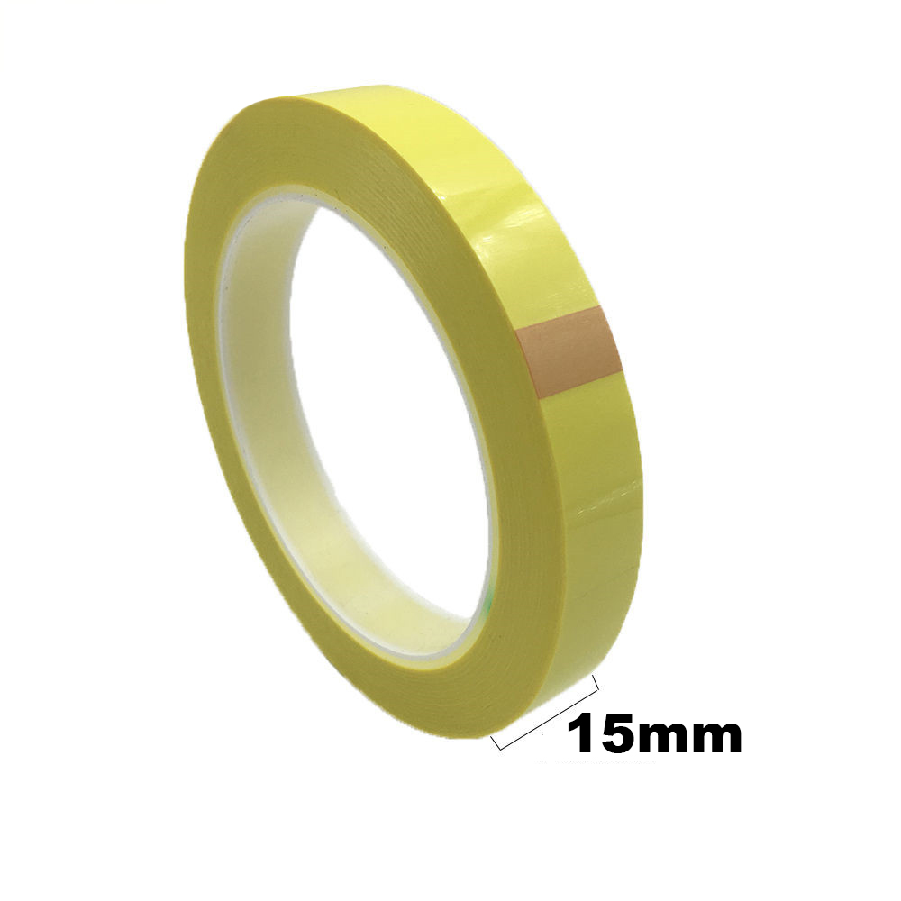 50M/roll, 15mm Wide Adhesive Insulation Mylar Tape For Transformer, Motor, Power Battery, Coil Wrap, Anti-Flame Yellow