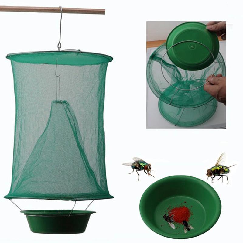 Trap Zapper Fly-Catcher Pest-Control Killer Flies Garden Health Cage-Net Reusable Hanging