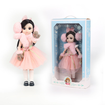 30CM BJD Doll 15 Ball Joints Bjd Dolls With Winter Outfits Dress Girl Princess Gift Make up Girls DIY BJD Toys Best Gift for Kid 7