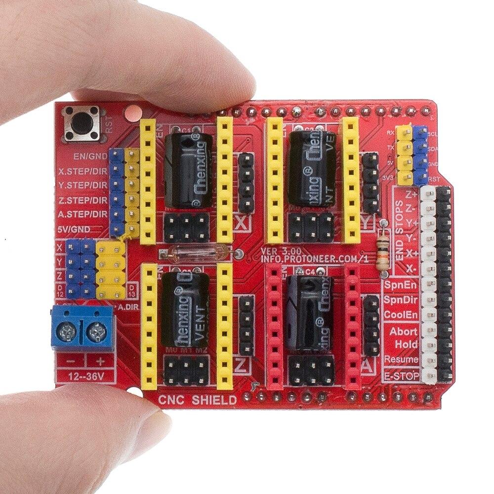 A4988 driver cnc placa de expansão escudo v3 protetor do gravador 3d impressora cnc para arduno cnc escudo v3