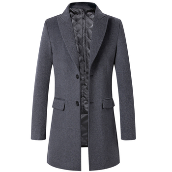 Thoshine Brand Winter 51.5% Wool Men Thick Coats Superior Quality Classic Slim Fit Male Wool Blends Outerwear Jackets Trench