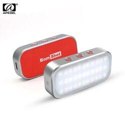 APEXEL APL FL02 bomshot wielofunkcyjny inteligentny RGB światło led do kamery panel lampy regulowana jasność światła wypełniającego w Oświetlenie fotograficzne od Elektronika użytkowa na