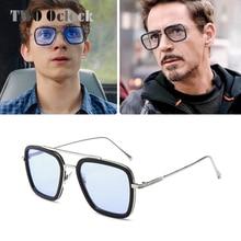 Tony Stark Sunglasses Men Vintage Retro Men's Glass