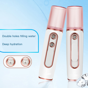 Image 2 - Facial Humidifier Portable Wireless Rechargeable 2 in 1 Power Bank Handheled Face Diffuser For Nano Sprayer Face Care Mist Maker
