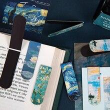 1 шт. творческий магнитные закладки Ван Гог художественная литература Книги серии DIY украшения Марка холодильника стикер канцтовары