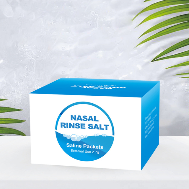 High Quality30 Pack Nasal Wash Salt 2.7g Per Pack Nasal Rinse Non-Iodized Salt  Kids Adults For 300ml Nasal Cavity Irrigation