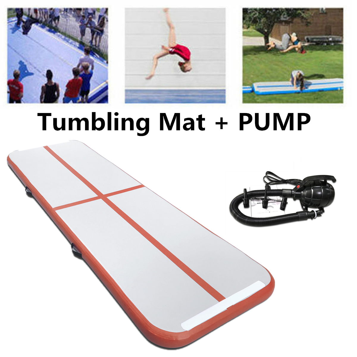 4m*1m*20cm Inflatable Air Track Tumbling Gym Yoga Mat for Home Use Training Gymnastics Airtrack Floor Mats Fitness Equipment