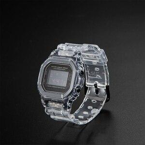 Image 3 - Набор прозрачных часов DW5600/5610/6900, водонепроницаемый резиновый ремешок, спортивный ремешок, Безель