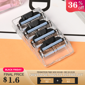 New Useful 4pcs/lot 3 Layer Razor Blades for Men Gile Shaver Blades Beauty Proglide Shaving Blades Refills Cartridge Blade