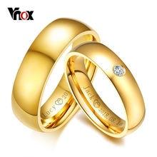Классический свадебный браслет vnox золотого цвета из нержавеющей