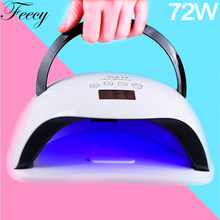 72 w lâmpada do prego para unhas manicure 36 leds de secagem todos os géis polonês uv conduziu a máquina do secador do prego que cura a luz uv do punho da lâmpada do gelo do gel(China)