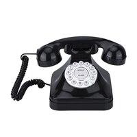 Vintage Telephone Multi Function Plastic Home Telephone Retro Antique Phone Wired Landline Phone Office Home Telephone Desk Deco|Decorative Telephones| |  -