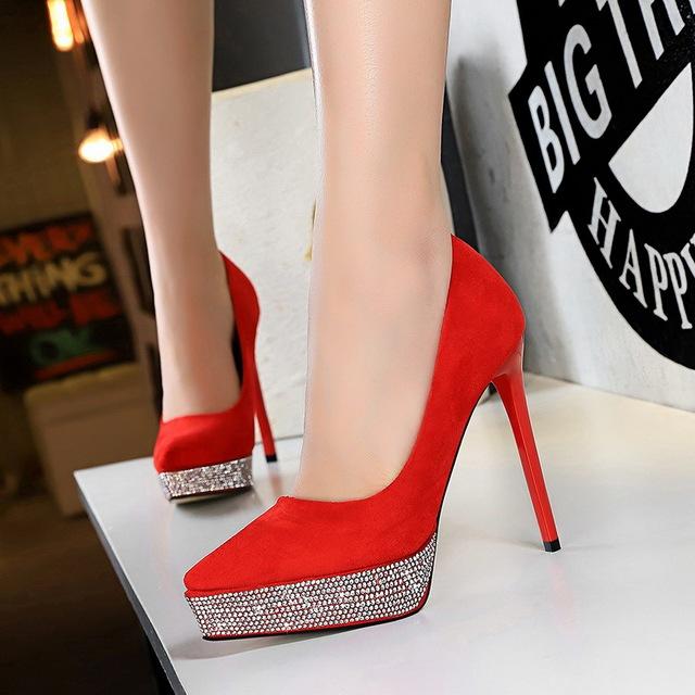 Women Pumps Platform Heels Women Shoes Heels Classic Pumps Pointed Wedding Shoes Extreme High Heels Female Shoes Ladies Shoes