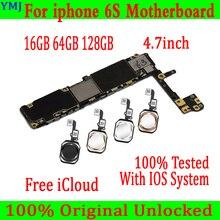 Full Mở Khóa Cho Iphone 6 S 6 S Bo Mạch Chủ Có/Không Có Cảm Ứng ID ban Đầu Dành Cho Iphone 6 S Chuẩn Mainboard Với Đầy Đủ Chip 16GB 64G 128G