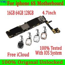 フルのためにロック解除iphone 6 s 6 sマザーボード/なしタッチid、オリジナルiphone 6 sとフルチップ、16ギガバイト64グラム128グラム