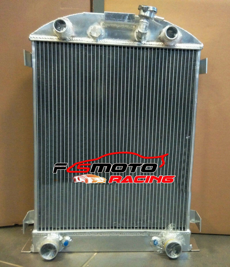 62MM Aluminum Radiator for 1932 Chopped-Ford Engine Hi-Boy Grill SHORTER AT//MT