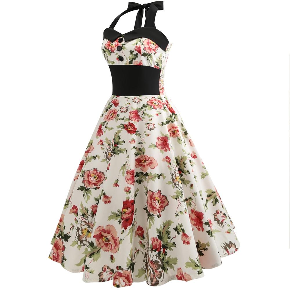 Boho Women Vintage Baggy Sleeveless Floral Casual Swing A-Line Midi Dresses