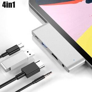 4 em 1 tipo c a USB-C 4 k hdmi usb 3.0 3.5mm adaptador de cubo de áudio para ipad pro puo88