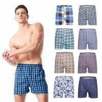Calzoncillos bóxer de algodón para hombre, ropa interior, pantalones cortos, 48 colores, talla grande, 4 unidades/lote