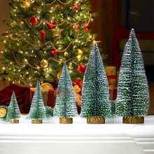 Mini Christmas Tree Decoration For Home Pine ornaments 2019 Navidad 2020 New Year