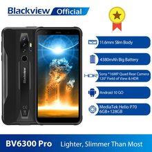 BLACKVIEW BV6300 Pro Helio P70 6GB + 128GB Smartphone 4380mAh Android 10 poręczny Quad kamera NFC IP68 bateria wodna Telefon tanie tanio Inne Nie odpinany CN (pochodzenie) Rozpoznawania linii papilarnych Cdma Wcdma 16MP 13000 Nonsupport Wspólnie z gniazdo karty SIM