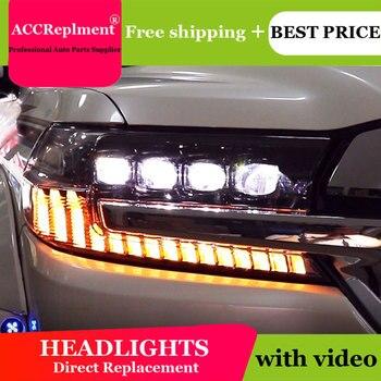 Car Styling For Toyota Land Cruiser led headlights 2017-2019 Led head lamp ALL LED fog lights Daytime Running Lights