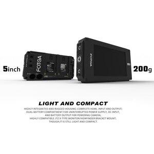 Image 3 - FOTGA Monitor de campo con pantalla táctil y placa de batería de doble NP F para 5D III IV A7 A7R A7S II III GH5