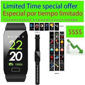 Image 1 - 3 Dagen Op Speciale Aanbieding Multicolor Verwisselbare Strap Smart Armband Met Fitness Tracker Monitor Slimme Band