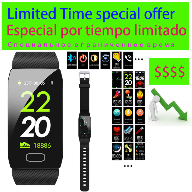 3 Dagen Op Speciale Aanbieding Multicolor Verwisselbare Strap Smart Armband Met Fitness Tracker Monitor Slimme Band