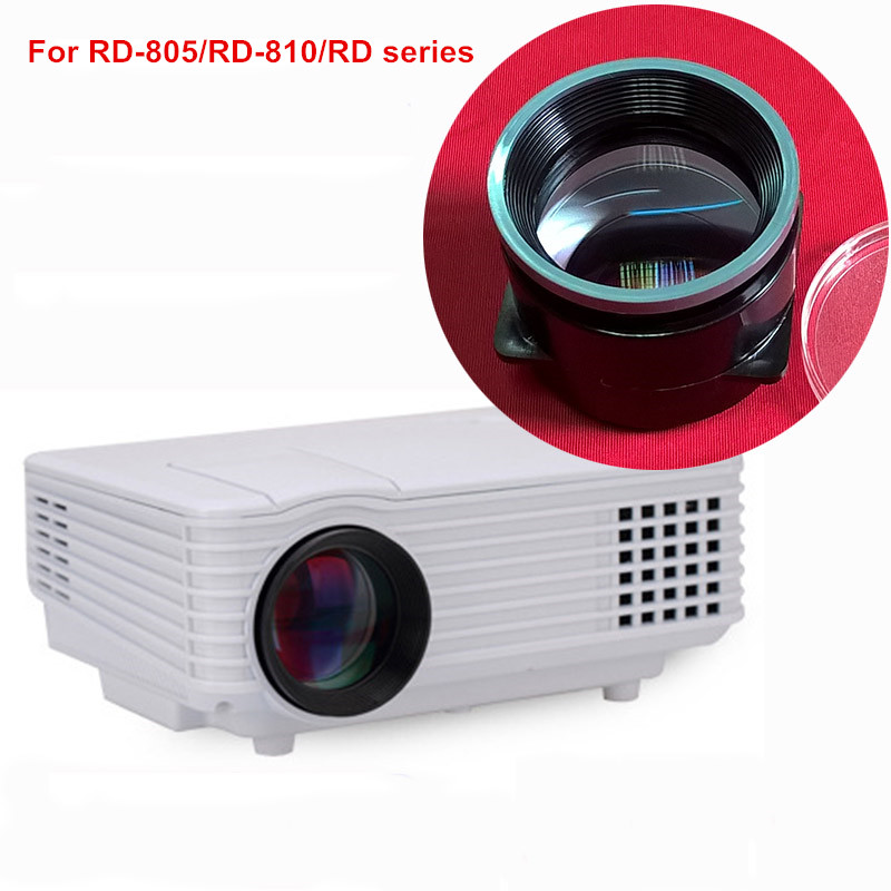 Mini Projector General Use Lens LED Projector DIY F125mm Focal Length For Rigal Projection RD-805/RD-810/RD Series Lcd 4 Inch