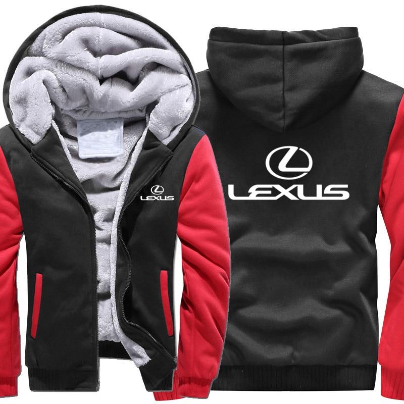 new Size S-5XL 2019 new LEXUS Hoodies Jacket Winter Mans Unisex Casual Wool Liner Fleece Man Coat Sweatshirts Pullover