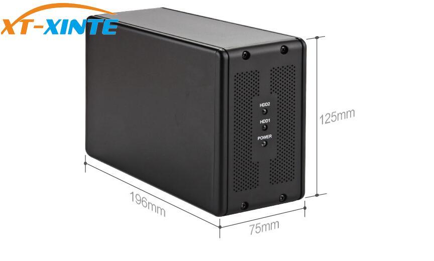 DT-3608 Desktop 3.5-inch Dual-port SATA Serial Port To USB3.0 Mobile Hard Disk Array Box RAID Hard Disk Box