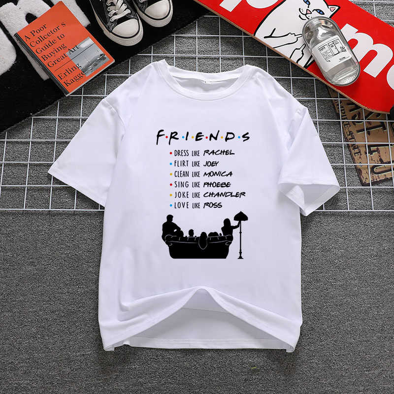 Friends T-shirt Monica Joey Ross Rachael Chandler Central Perk TV 90 rétro groupe