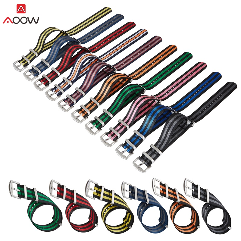 Nylon Straps NATO ZULU Watchband Generic Watchband Belts Replacement Men Women Watch Accessories 18mm 20mm 22mm 24mm