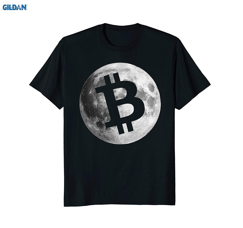 Hommes Bitcoin Logo lune chemise crypto-monnaie argent cadeau Geek t-shirts à manches courtes loisirs mode été T-Shirt mode