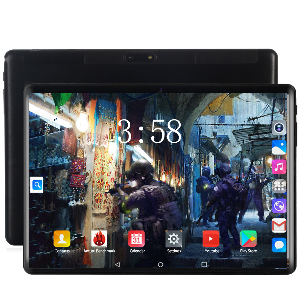 2020 Newest 10.1 Inch Tablet Pc Android 8.0 Octa Core 6GB+128GB 1280*800 IPS Tempered Curved Screen GPS Bluetooth Tablets 10.1