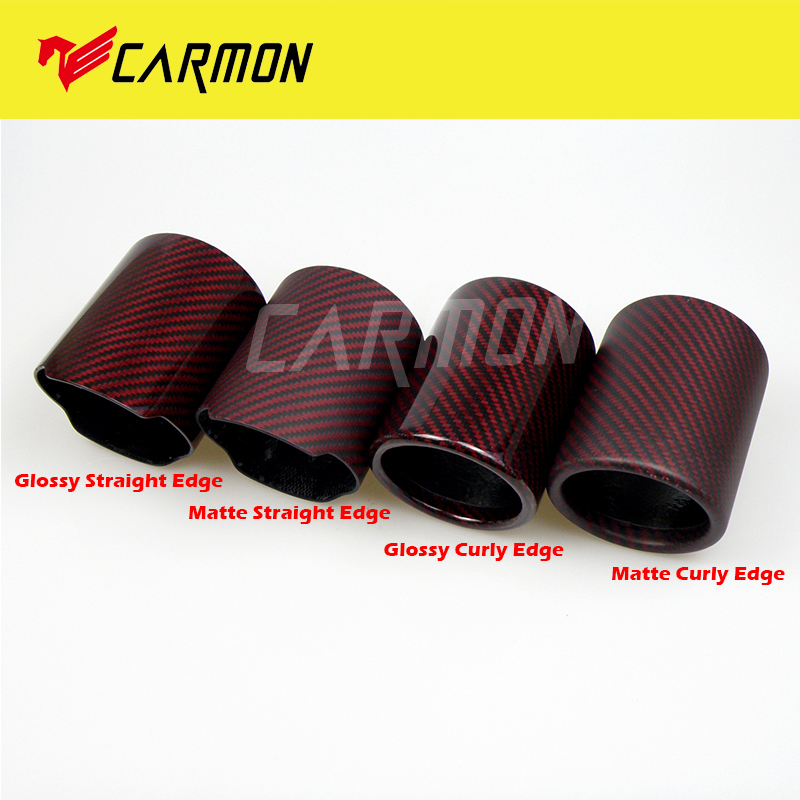 89mm car exhaust pipe red and twill