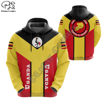 Men Women I love Uganda print 3D Hoodies Funny flag Sweatshirt Fashion Hooded Long Sleeve zipper Pullover tshirt tee tracksuit
