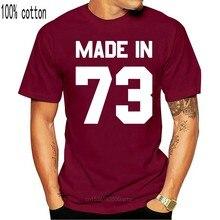 Hecho en el 73 - Mens T-Shirt - 13 colores-43rd cumpleaños presente-regalo-1973 Tops cuello redondo Camiseta de manga corta Camiseta Hombre
